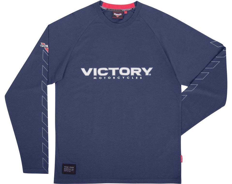 Mens Engine Long Sleeve T-Shirt - Navy 2864343