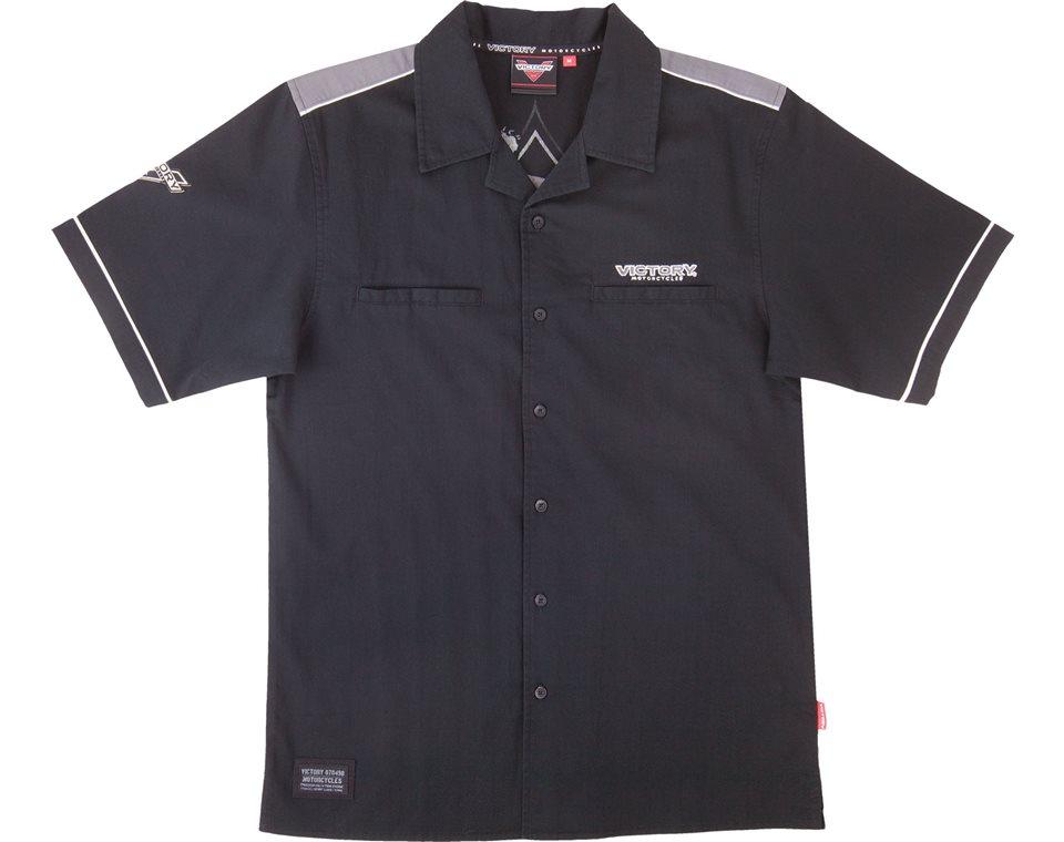 Men's Classic Flat Collar Ace Shirt- Black/Gray 2864396