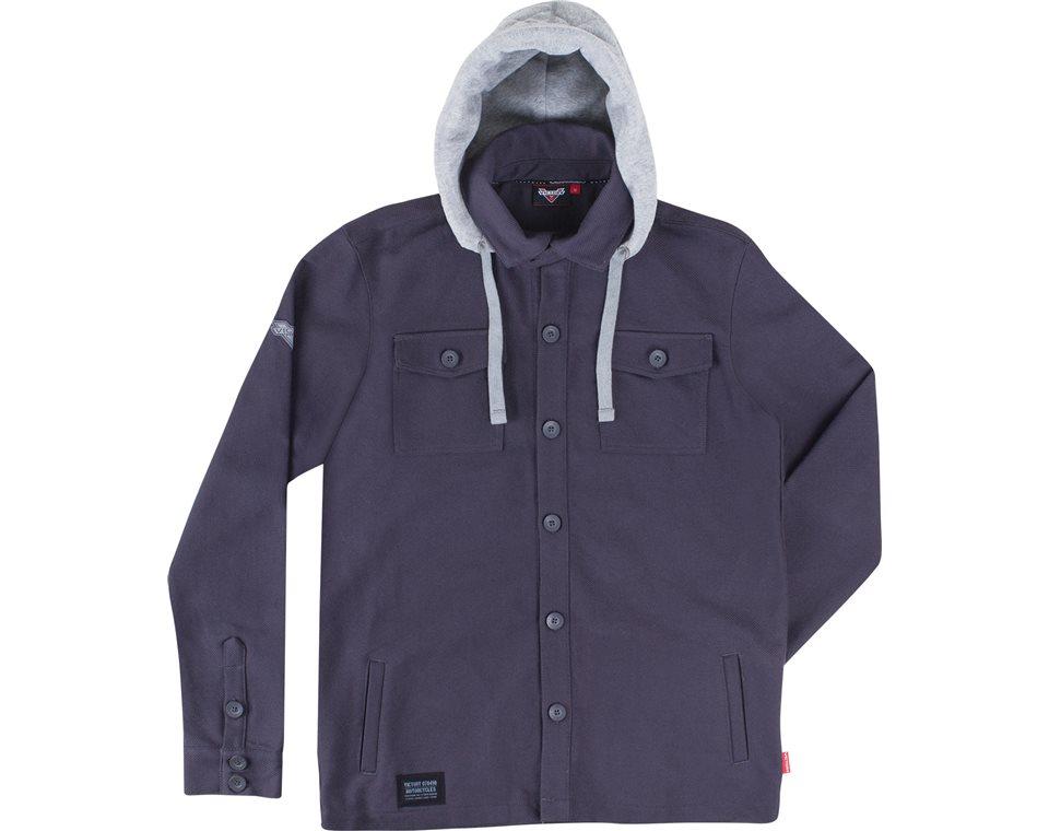Mens Long Sleeve Hooded Overshirt -Gray 2865182
