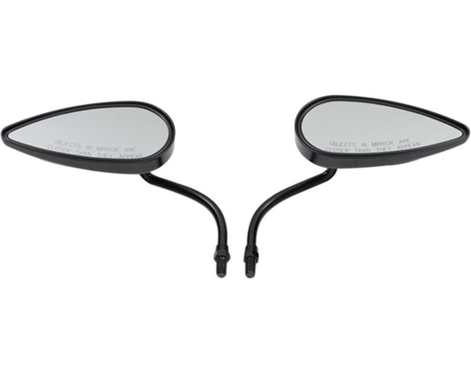 Arlen Ness® Teardrop Mirrors - Black 2874934-067