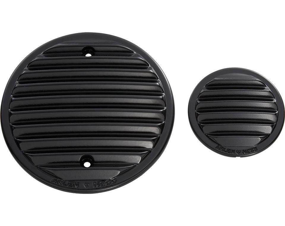 Arlen Ness® Finned Engine Covers - Black 2876318-463