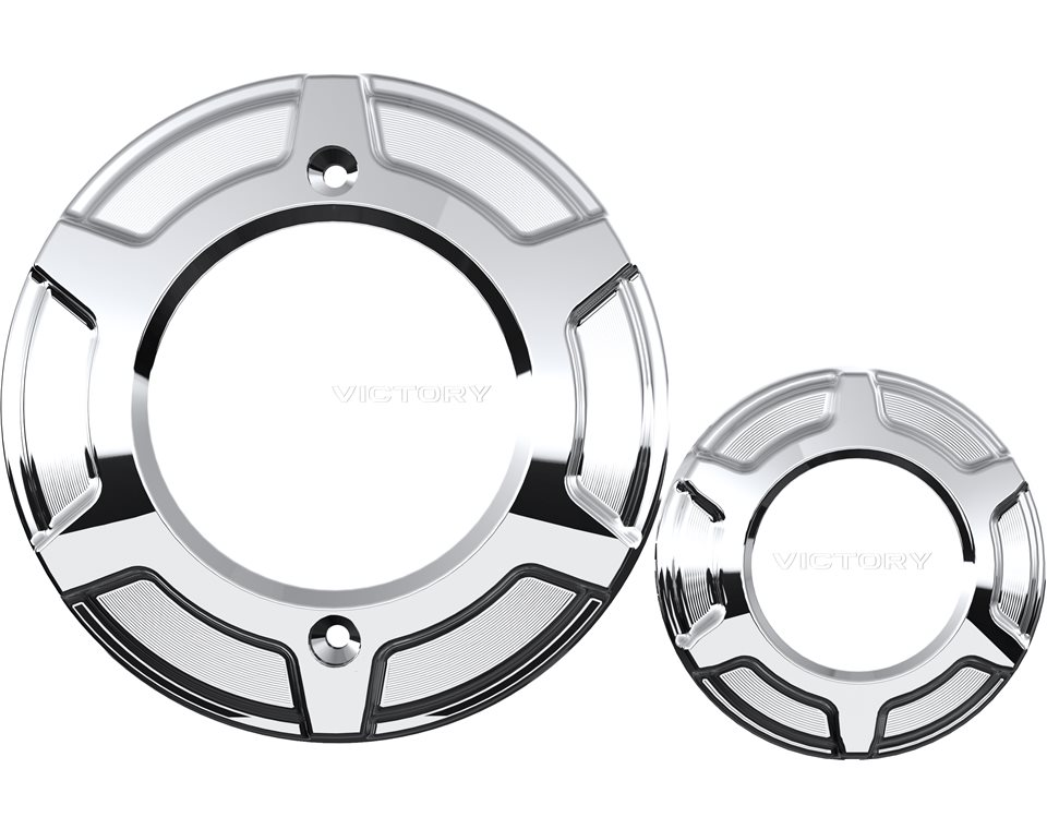 Victory® Beveled Engine Covers - Chrome 2880316-156