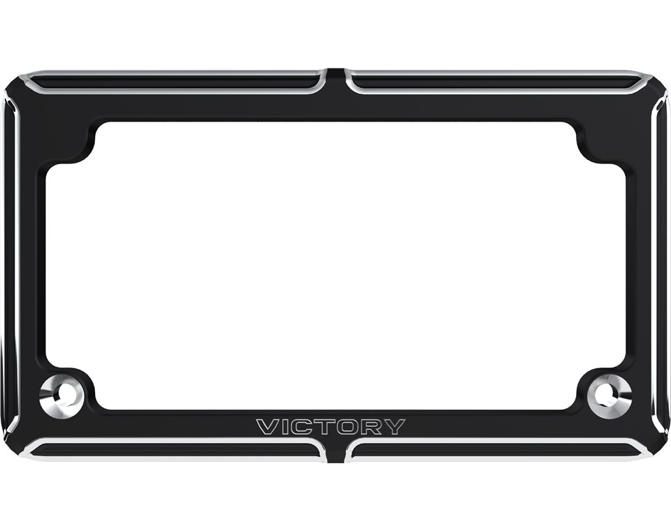 Victory® Beveled License Plate - Black | Victory Motorcycles AU