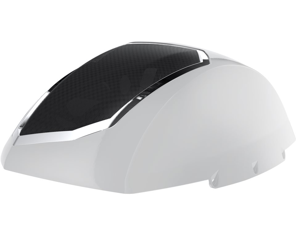 Cross Country Saddle Bag Audio Lids - Gloss Pearl White 2880650-566