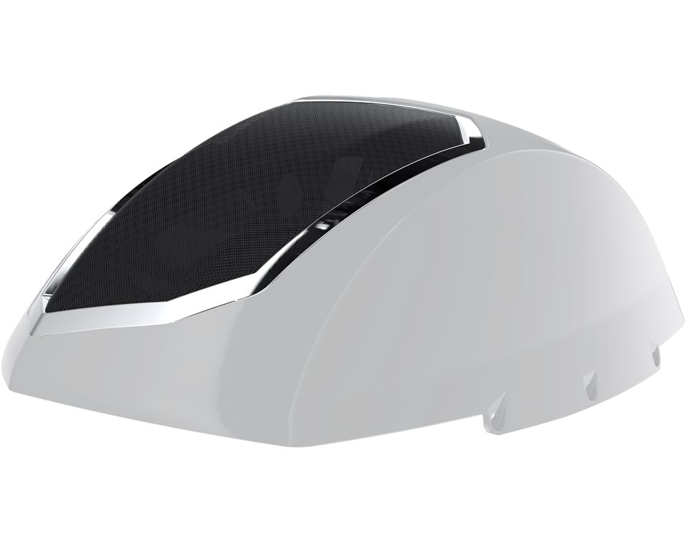 Cross Country Saddle Bag Audio Lids - Suede Pearl White 2880650-675