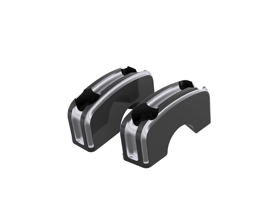 Billet Café Handlebar Clamps 2881886-468