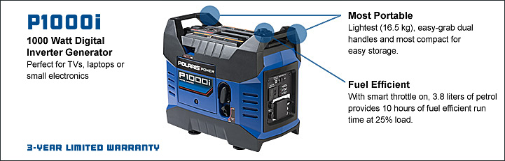 1000 watt compact generator