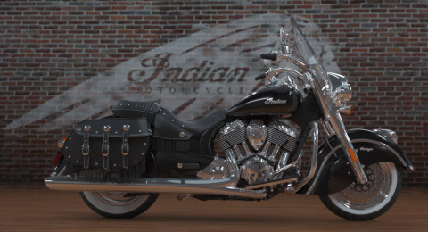2017 Indian Chief Vintage Motorcycle - Thunder Black