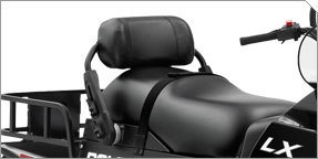 2 Passenger Seat with Adjustable Backrest