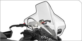 "Extended Wind Protection & AXYS® Extra Tall Wide 24"" Windshield"