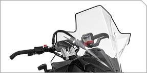 "Extended Wind Protection & AXYS® Tall 20"" Windshield"