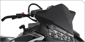 "AXYS® Deep Snow Mid 13"" Windshield"