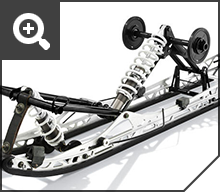 Le rail de guidage optimisé réduit le poids tout en ajoutant de la solidité