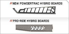 Marchepieds hybrides PowderTrac™