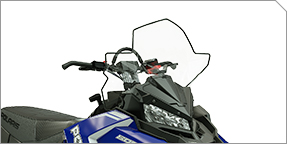 """Extended Wind Protection & AXYS® Tall 20"""" Windshield"""
